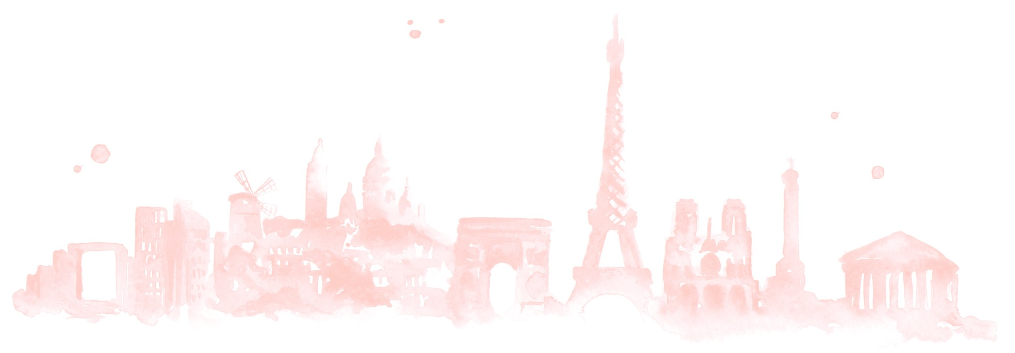 Paris Skyline Illustration